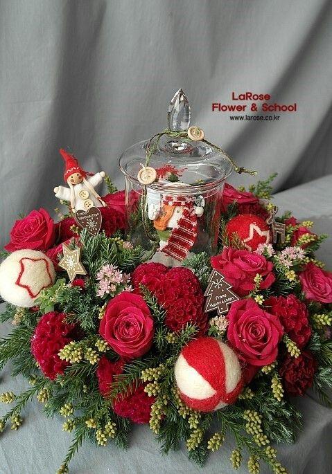 라로즈플라워 크리스마스 원데이클래스 모집 카톡아이디 larose27
