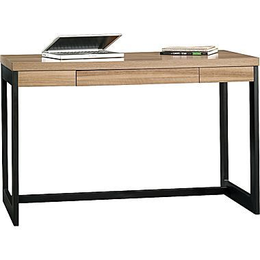 47.25 inch $149.99 Sauder Kirby Desk, Pale Walnut (Staples.com)