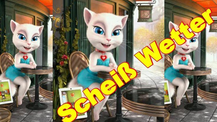 Scheiß Wetter ist es Regen Schnee Winter Sturm & Kalt Talking Angela App sprechende Katze