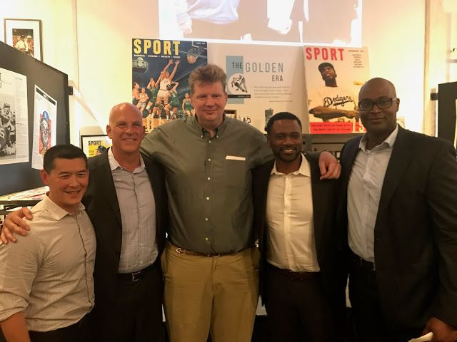 """Canada Basketball Inducts Todd MacCulloch into Canadian Basketball Hall of Fame   Todd with former 2000 Olympic Team members John Lee (manager) coach Jay Triano and players Greg Francis and Mike Meeks  TORONTO ON (May 19 2017)- Joined by friends and family in the basketball community Manitoba's Todd MacCulloch along with Olga Hrycakwere honoured at The Sport Gallery in Toronto's Distillery. Thursday night's event was emceed by CTV's Marci Ien.  Todd withOlga Hrycak  """"It is my pleasure to…"""