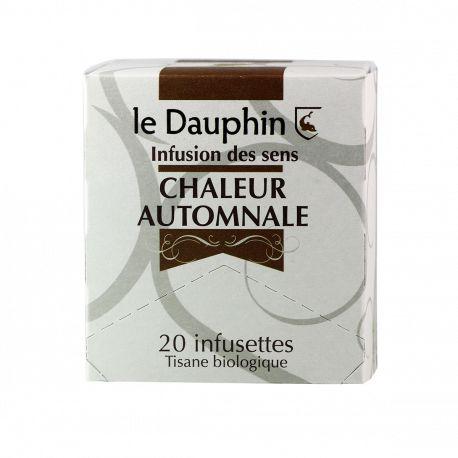 """Tisane bio """"Chaleur automnale"""" - Boite 20 infusettes - Le Dauphin"""