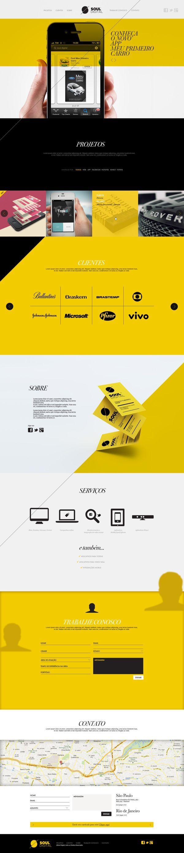 Webdesign Schweiz | Jetzt kostenlose Offerte anfordern http://www.swisswebwork.ch Soul Digital by Isabela Rodrigues, via Behance
