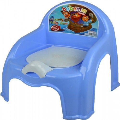 Potty Chair Seat Blue Training Toilet Kids Toddler Easy Clean Removable Lid