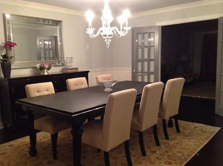 after moving into a 26 year old home it needed a redo here is the living dining room post reno. Black Bedroom Furniture Sets. Home Design Ideas