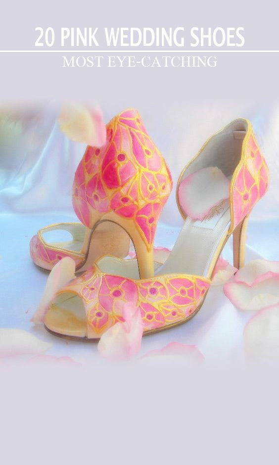 e3d5c498c 20 Most Eye-catching Pink Wedding Shoes in 2018