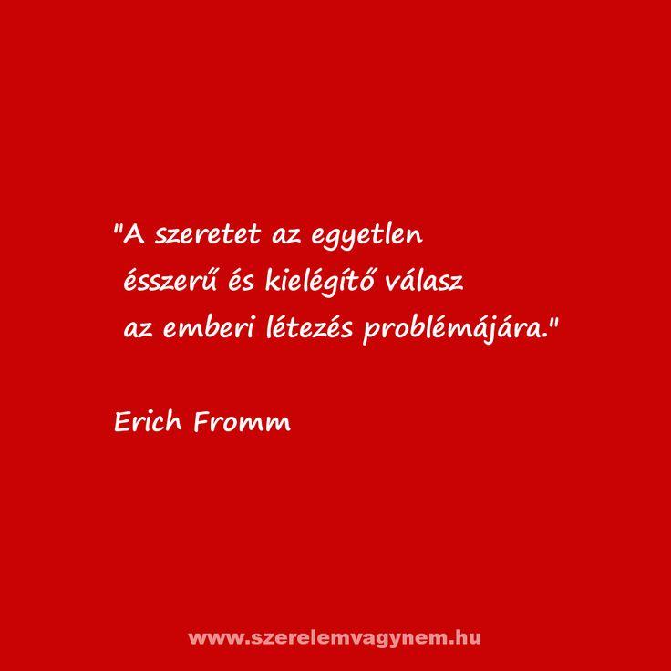 Erich Fromm szerelmes idézet