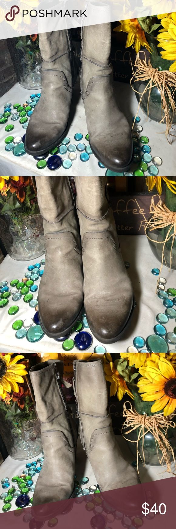 MJUS ANKLE BOOTS Sz 39M- good condition- genuine leather- distressed toe area- 10' side zipper- 3' heels- made in Bosnia- super cute. MJUS Shoes Ankle Boots & Booties