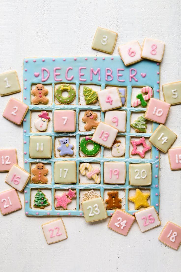 Cookie Advent Calendar in 2020 New years cookies