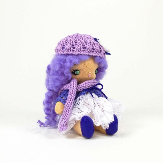 Miniature cloth doll Handmade sweet little by KMMiniatureDolls