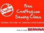 Free classes with BERNINA 380 Test Drive...call the store for details!