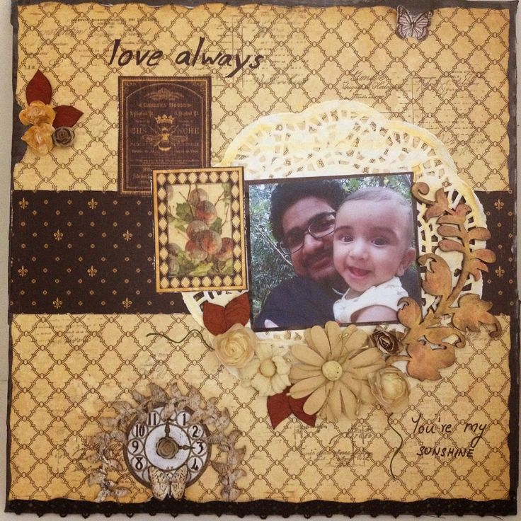 G45 French Country scrapbook layout   My Butterfly Garden