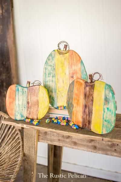 Rustic Holiday Decor, Reclaimed Wood Pumpkins in 2018 Rustic