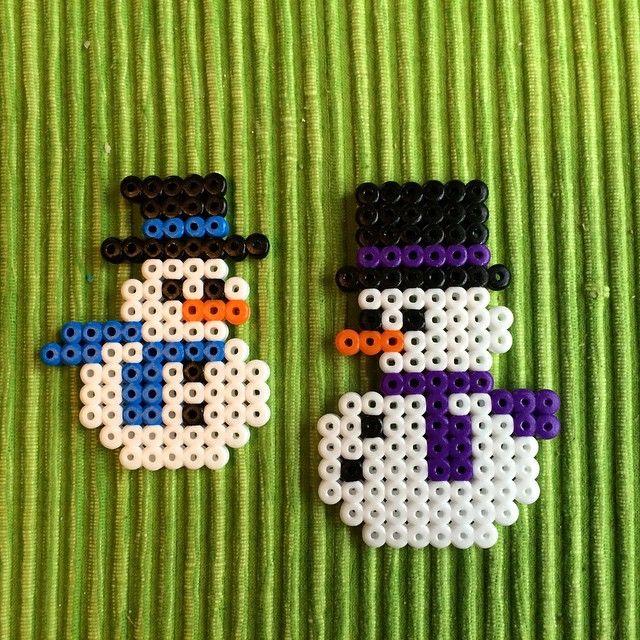 Snowmen hama beads by petrawettero