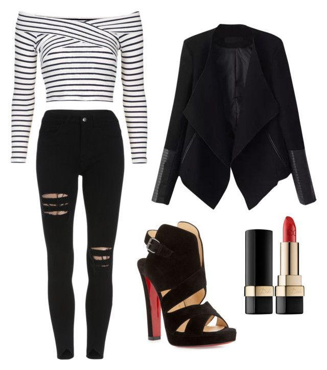 Rock Chic by stylebyeliana on Polyvore featuring Topshop, Relaxfeel, Christian Louboutin, Dolce&Gabbana and styleoftheweek