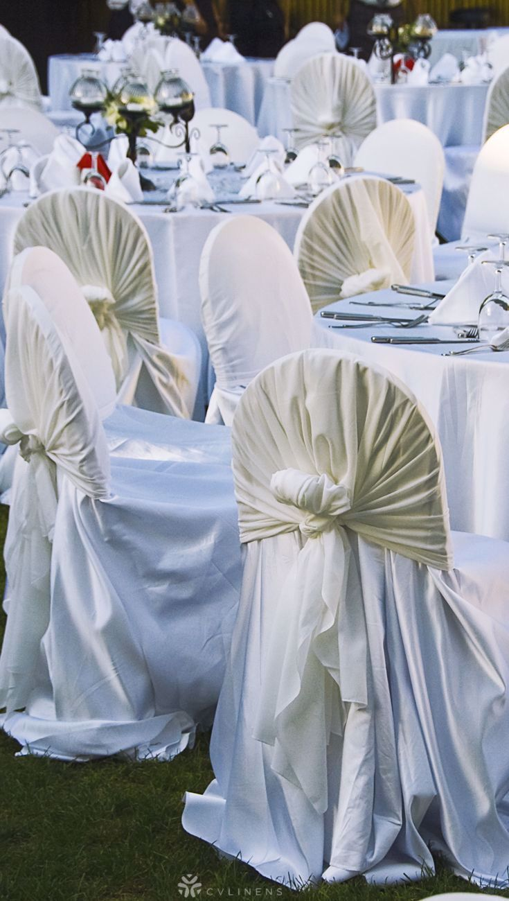 Lamour Universal Self Tie Chair Cover White In 2020 Diy