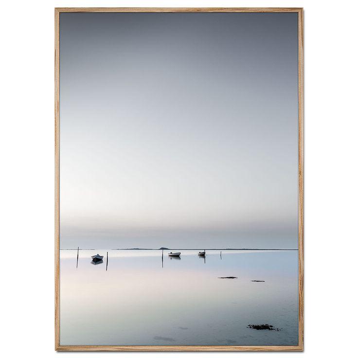 Danmark plakat af både ved Stavns Fjord - Samsø en smuk og stille aften. På Samsø er Stavns Fjord et helt specielt stykke Danske natur!