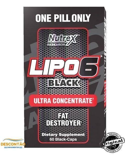Lipo 6 Black UC Ultra Concentrado 60 Caps  Descontão Suplementos - Descontão Loja de Suplementos Alimentares Importados