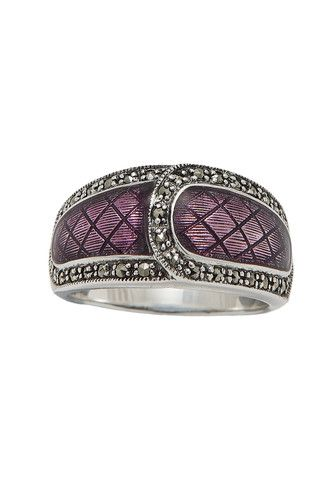18-179 Violet Enamel and Marcasite Ring ... Style ...