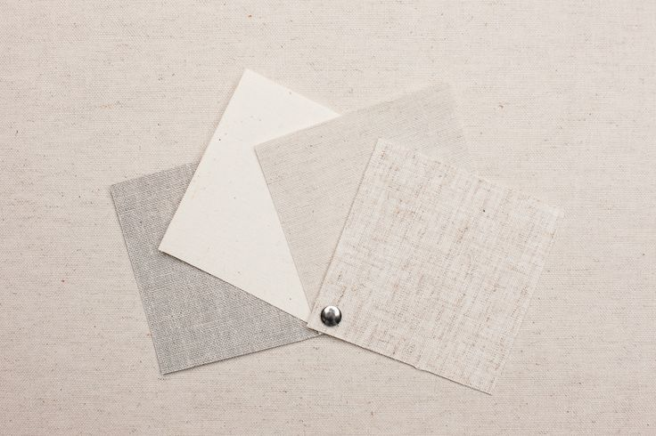 NATURAL LINEN SWATCHES - Starting from the Left: Oyster, Canvas, Berber, Barley