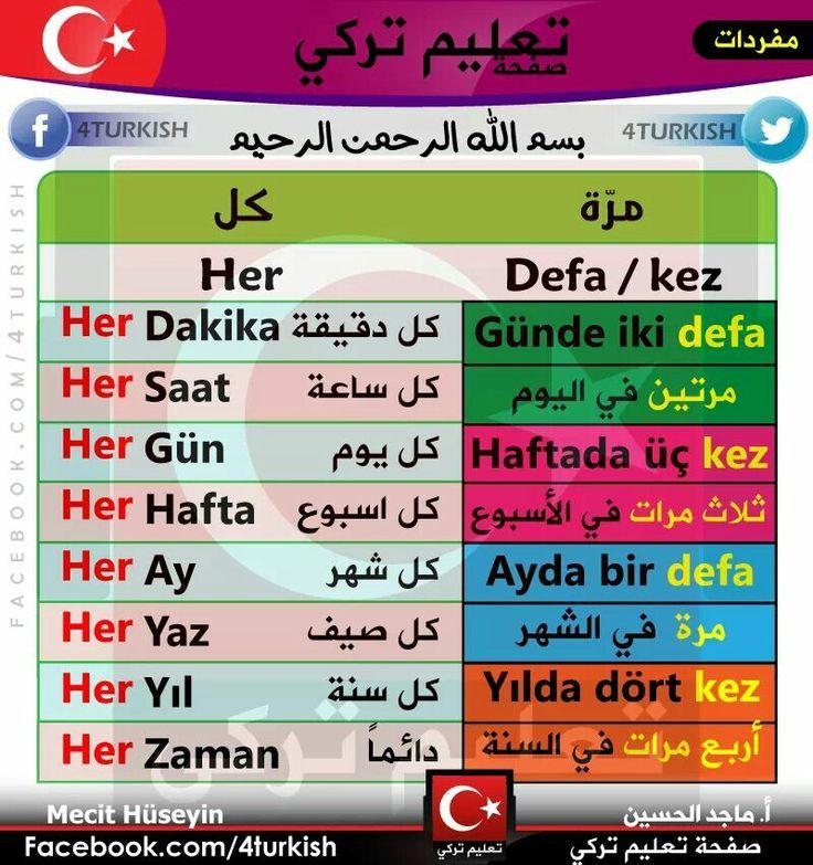كل مرة ...باللغة التركية