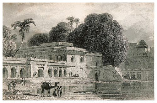 020-Casas desiertas de los Jefes Patanes en Delhi-The oriental annual, or scenes in India 1835-1840- William Daniell-© Universitätsbibliothek Heidelberg