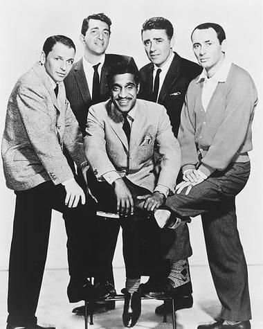 The Rat Pack Frank Sinatra Dean Martin Sammy Davis Jr. Peter Lawford Joey Bishop B/W 8x10 Photograph