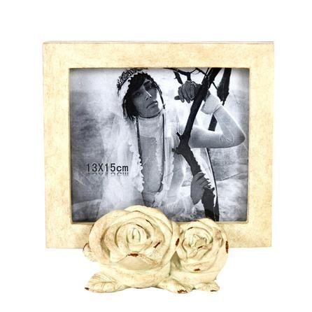 Room In Bloom Photo Frame With Roses | Dunelm