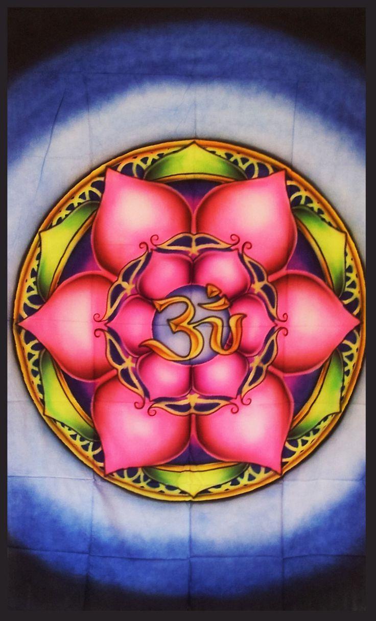OM Lotus fleur Mandala tapisserie géométrie par LoveSpiritPsy