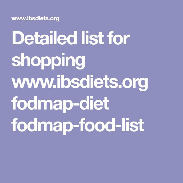 Detailed list for shopping www.ibsdiets.org fodmap-diet fodmap-food-list