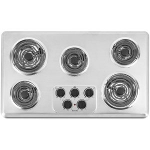#8: Maytag MEC4536WC 36 Electric Cooktop - Brushed Chrome