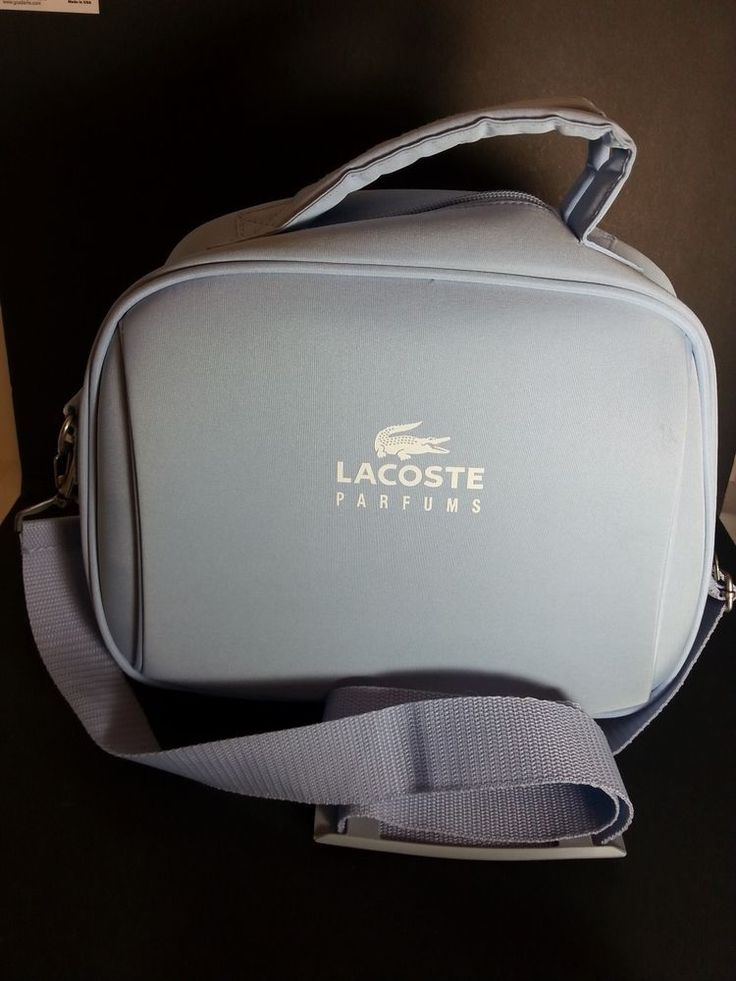 Lacoste Parfums Travel Carry On Bag Luggage Tote Adjustable Straps Crocodile #Lacoste #TravelBag