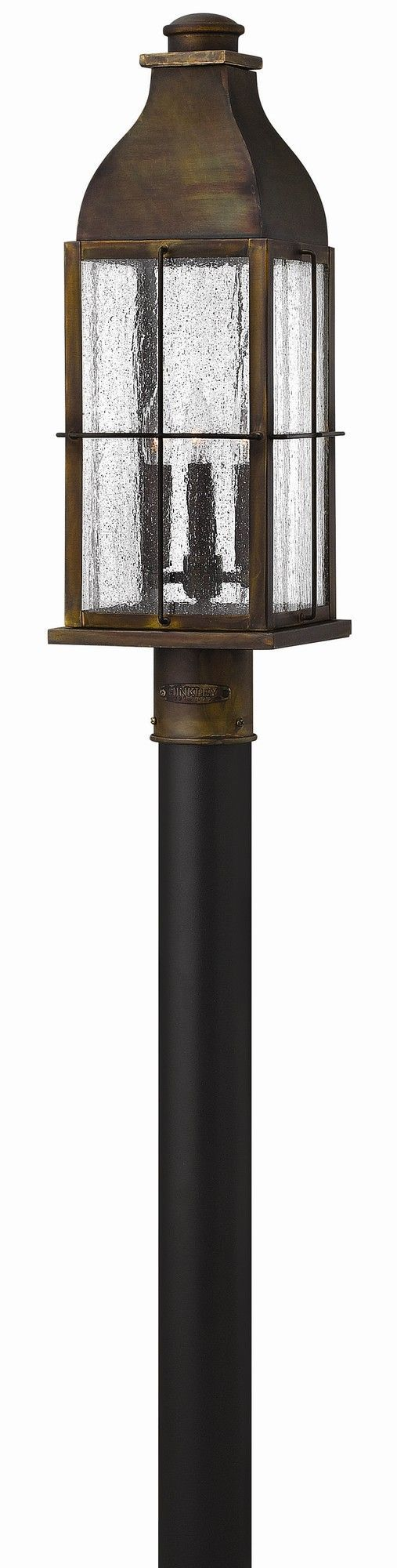 Features:  -Bingham collection.  -Outdoor post lantern.  Fixture Material: -Metal. Dimensions:  Overall Product Weight: -10 lbs.  --Bingham's traditional style recalls a turn of the century gas light