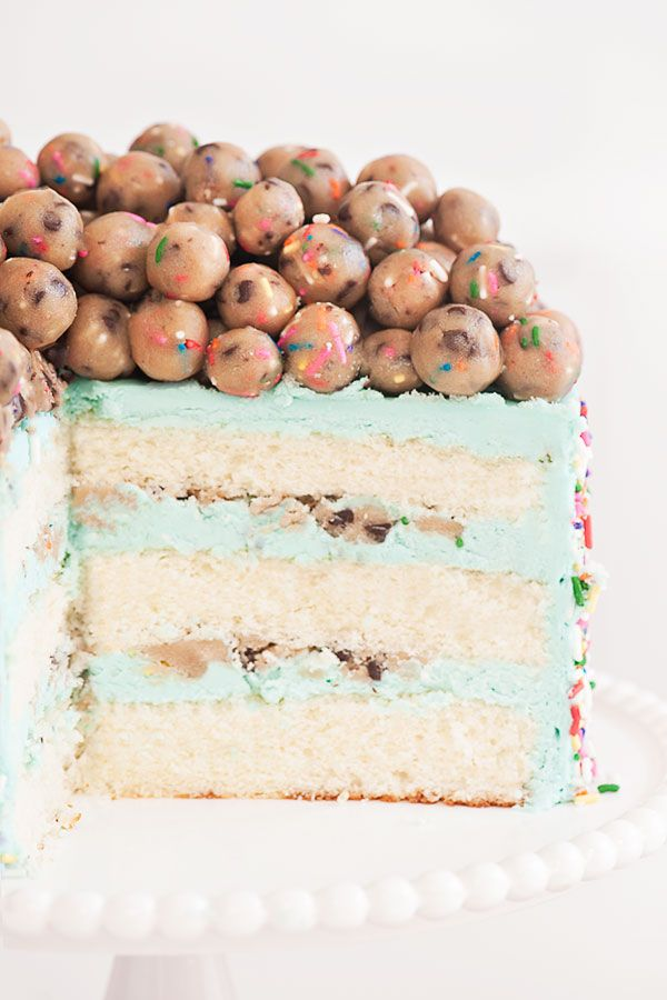 Confetti Cookie Dough Cake | Sprinkles for Breakfast