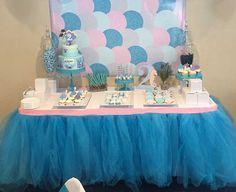 Custom Tulle Table Skirt Wedding Birthday New by BaileyHadaParty