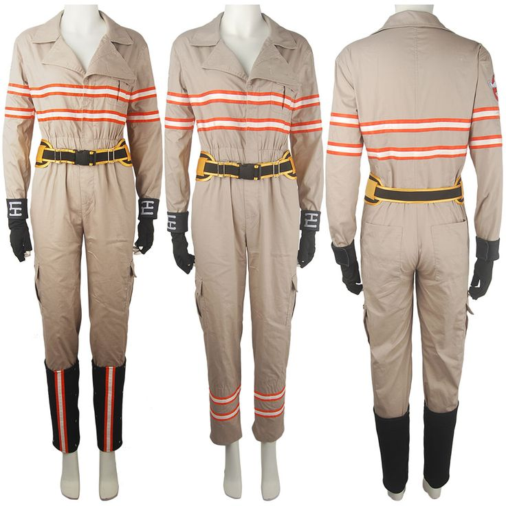 Ghostbusters Jumpsuit Female Ghost Buster Adult Outfit Halloween Cosplay Costume Women