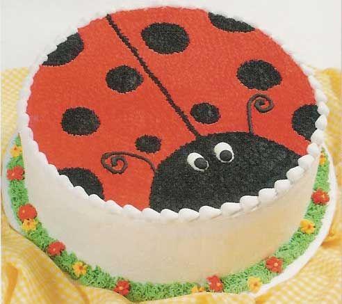Ladybug Round Cake