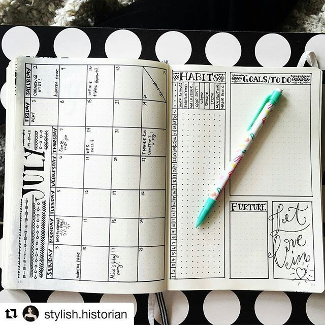 That's a good-looking monthly . .repost @stylish.historian . .  #bulletjournal…