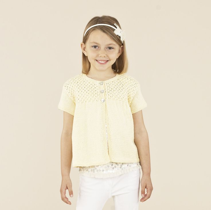 Perfect for Summer weddings and birthday parties - this gorgeous design for girls is in Sublime Egyptian cotton dk
