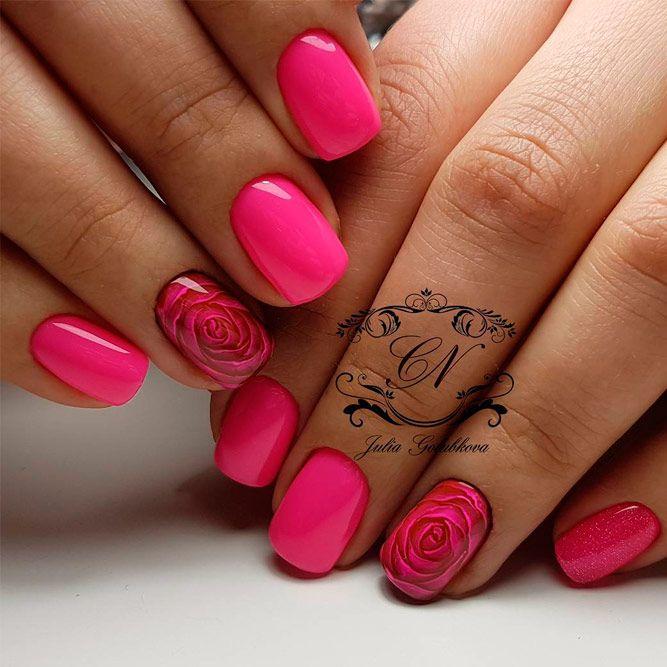 40 Classy Black Nail Art Designs For Hot Women: Best 25+ Pink Nail Designs Ideas On Pinterest