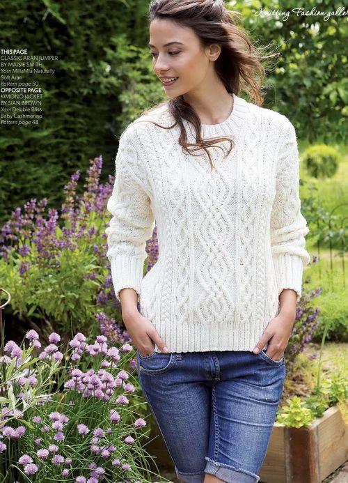 Mejores 14 imágenes de Free Knit Sweater Patterns en Pinterest ...