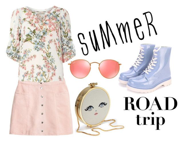 """Funny  summer"" by polina-baryshnikova on Polyvore featuring мода, Billie & Blossom, Ray-Ban и roadtrip"