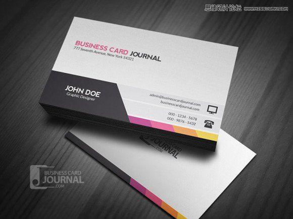 20個免費的商業名片設計PSD模板