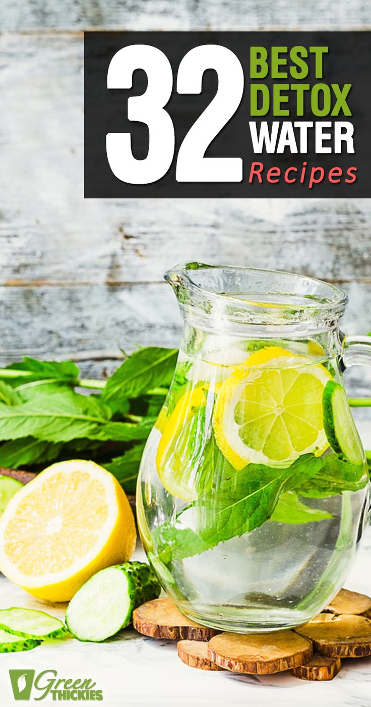 These delicious detox water recipes will help you lose weight, increase your energy, remove toxins and detox your body, improve your digestion, boost your immune system, make you happier, balance the ph of your body, and clear your skin! Plus they taste pretty delicious - a great healthy alternative to soda! http://www.greenthickies.com/32-best-detox-water-recipes/