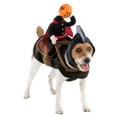 Headless Horseman Dog Rider Pet Costume