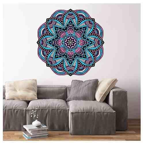 vinilos decorativos autoadhesivos mandalas a color 59x59cm