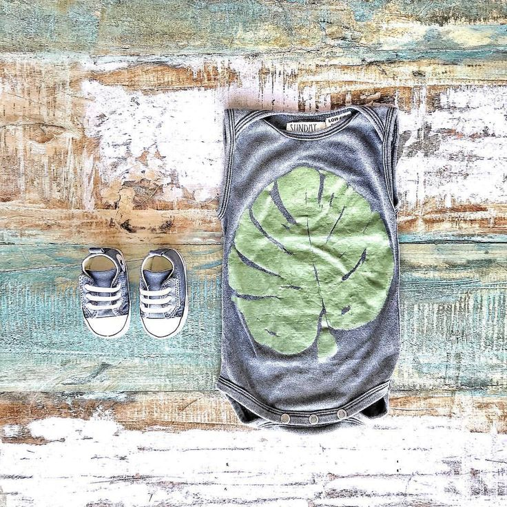 Cool Baby Clothes ~ Sunday the Label monstera leaf bodysuit & Converse baby Chucks [shop online & in-store in Noosa]  www.tinystyle.com.au  #babyclothes #sundaythelabel #converse #babychucks #babyconverse #babyshoes