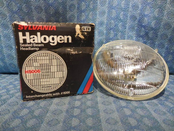"1955-1974 GM Ford Mopar NEW 5-3/4"" Round Halogen Headlight Bulb #H5006 12 Volt #Sylvania"