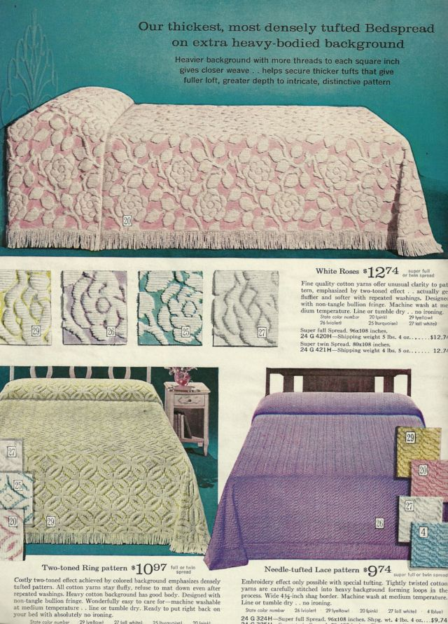 1960s chenille bedspreads vintage chenille bedspreads