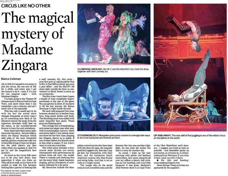 Awesome review in the Cape Times :)
