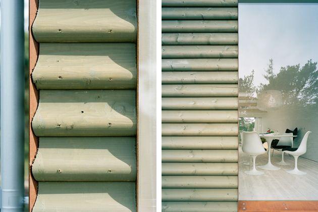 Mer ovanlig ligg. fjällpanel. Grönmålad och med rundad profil, foto 3